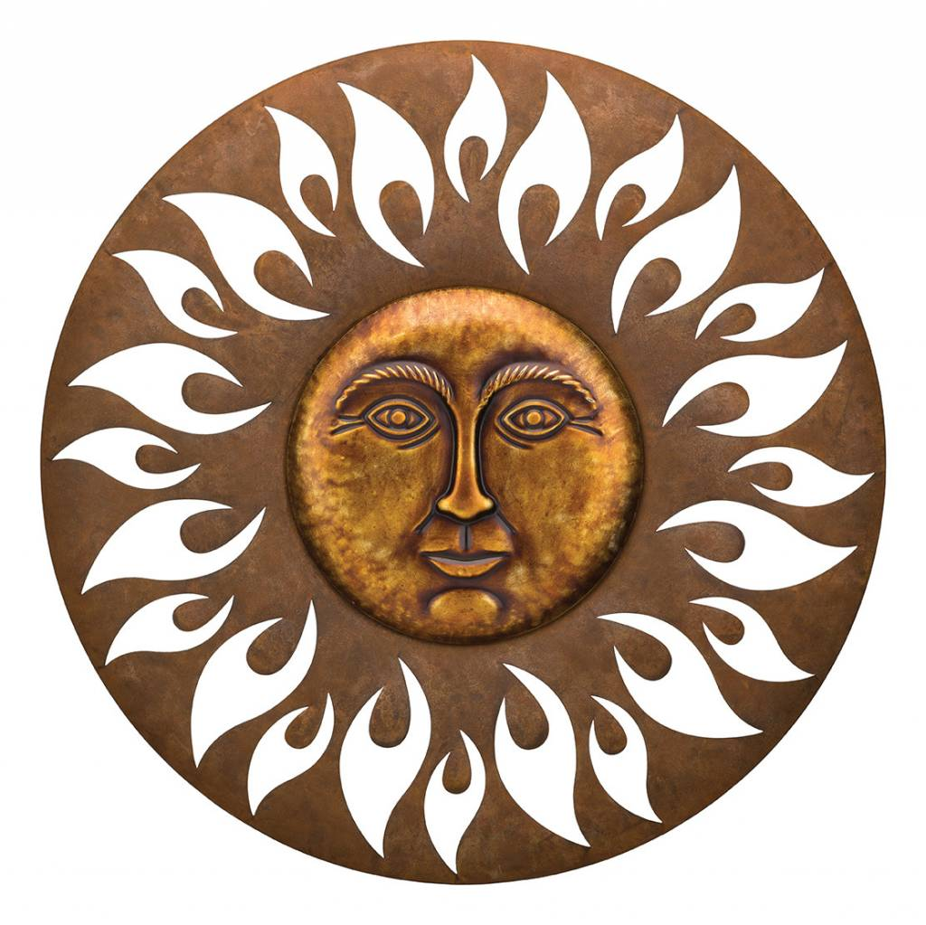 Aurora Metal Sun Face