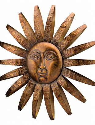 Sedona Metal Sun Face