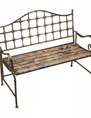 Rustic Bird Bench