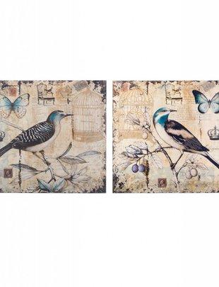 Set of 2 Vintage Bird Prints