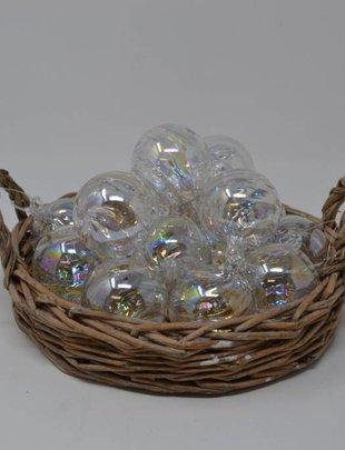"2"" Iridescent Glass Ball Ornament"