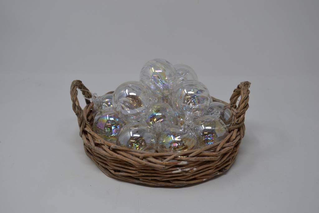 """2"""" Iridescent Glass Ball Ornament"""