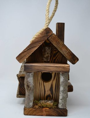 Wooden Mill Cabin Birdhouse