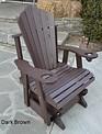 2-ft Fan-Back Glider Outdoor Chair