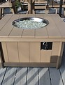 Enclosed Fire Pit Outdoor Table