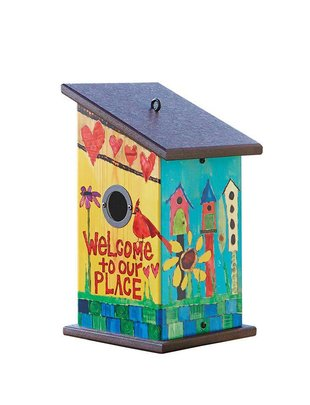 Welcome To Our Place Birdhouse