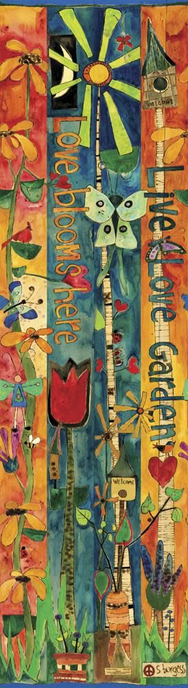 6' Love Garden Peace Pole