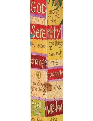 3' Serenity Prayer Peace Pole