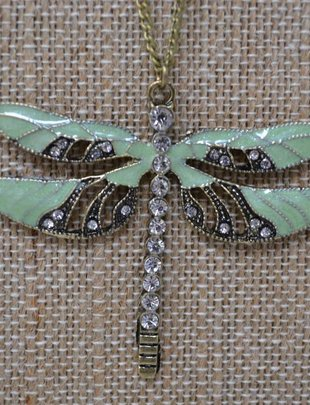 Vintage Dragonfly Necklace