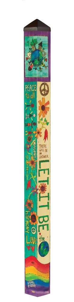 6' Let it Be Peace Pole