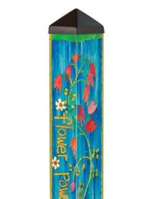 3' Flower Power Peace Pole