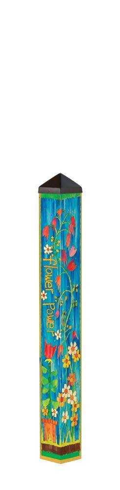 3' Flower Power Peace Pole