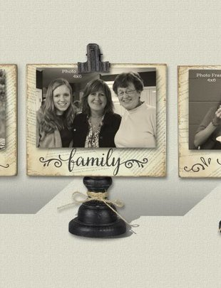 Wooden 4x6 Photo Clip (3 Styles)