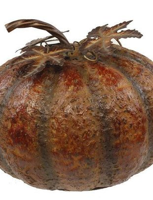 Large Bumpy Rustic Metal Pumpkin