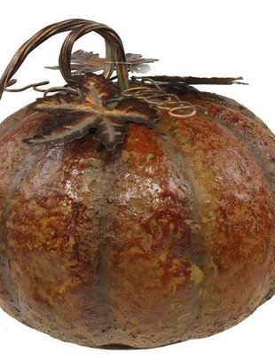 Medium Bumpy Rustic Metal Pumkin