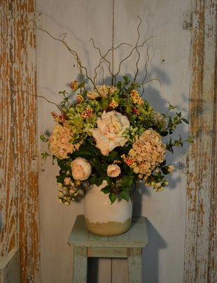 Formal Rose Hydrangea Arrangement