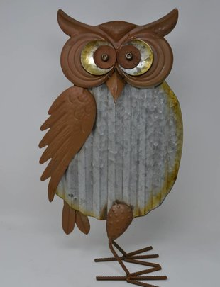 Solar Galvanized Metal Owls (2 Styles)