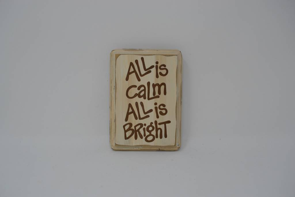 All Is Calm Message Ornament