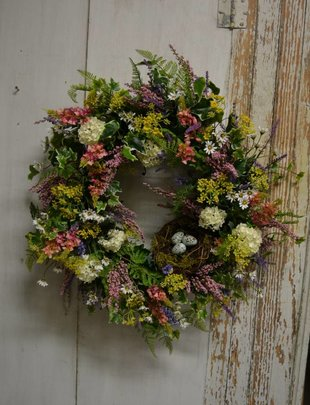 Pink Lupine Custom Wreath