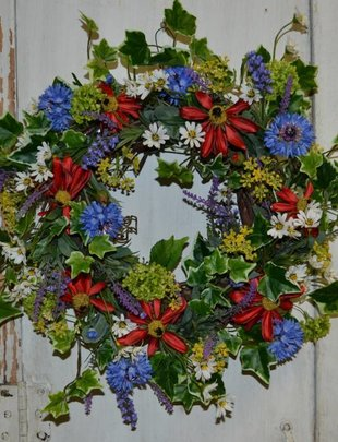 Small Mixed Summer Wreath