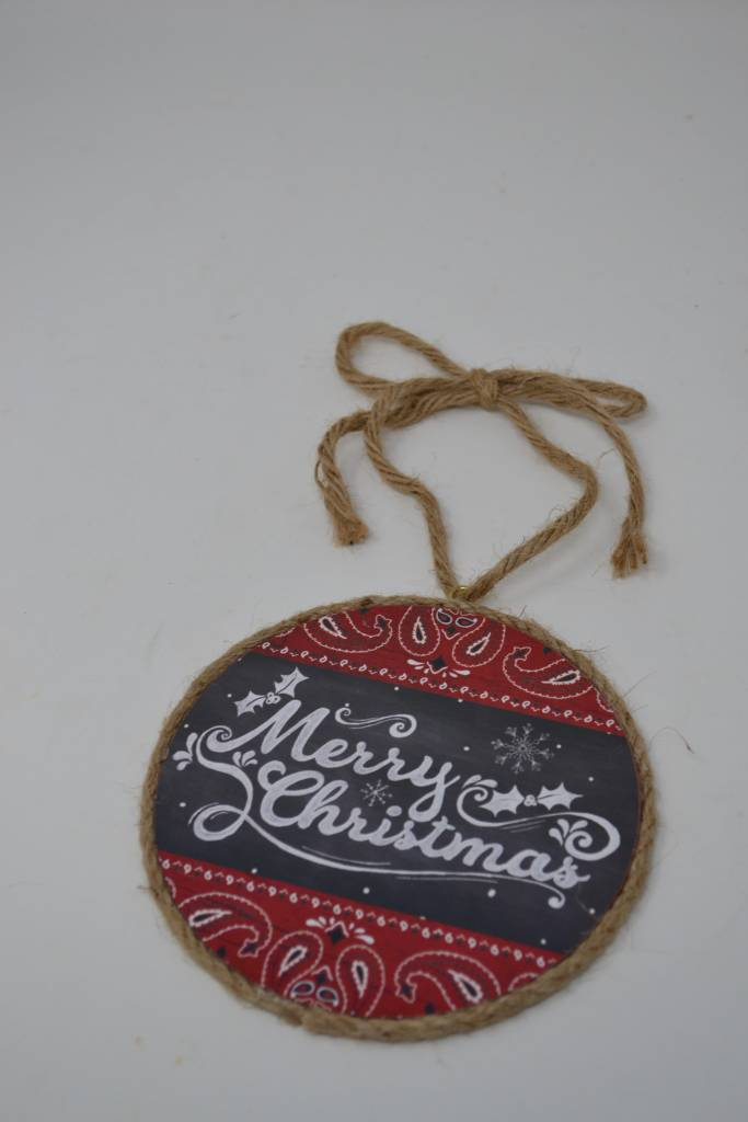Bandana Merry Christmas Ornament