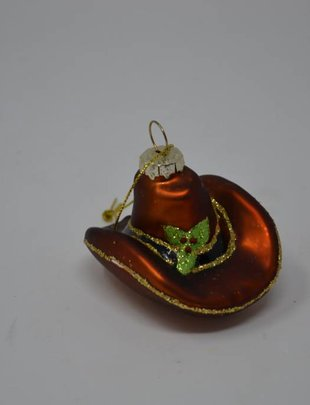 Holly Cowboy Hat Ornament
