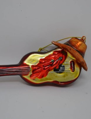 Guitar & Hat Ornament