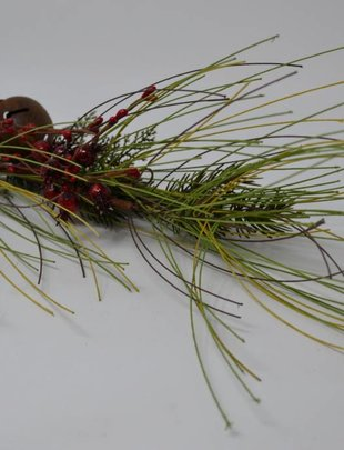 Mixed Pine Berry Bell Spray