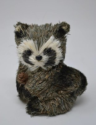Small Sisal Raccoon Ornament