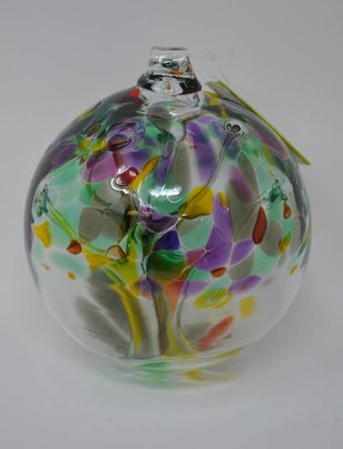 "6"" Hanging Glass Tree of Life Orb"