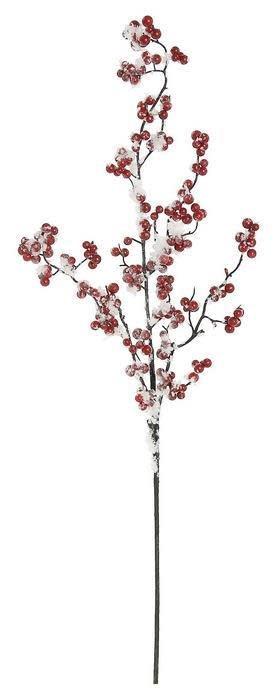 Flocked Red Berry Stem