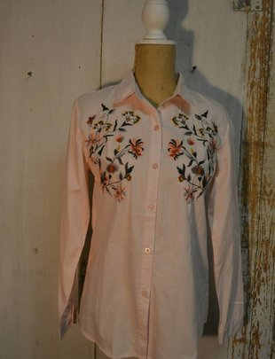 Embroidered Button Down Top (5 Colors)