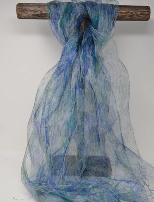 Silk Patterned Handmade Scarf (3 Colors)