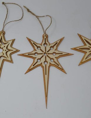 Wooden North Star Ornament (3 Styles)