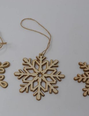 Wooden Snowflake Ornament (3 Styles)