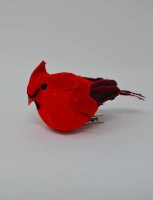 Black Tail Chubby Clip On Cardinal