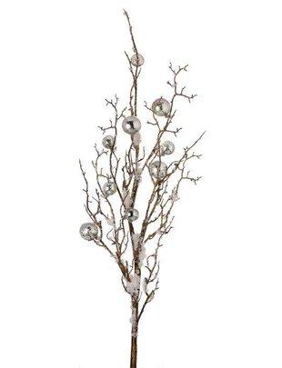 Silver Ornament Snow Branch