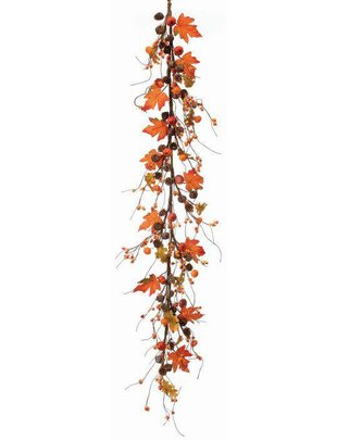 4-ft Mini Pumpkin Jingle Bell Garland