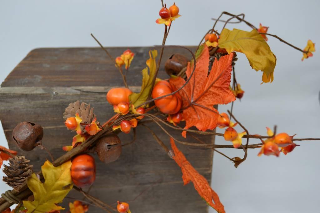 4-ft Mini Pumpkin Jingle Bell Garland