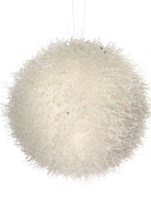 Frozen Tinsel Ball Ornament
