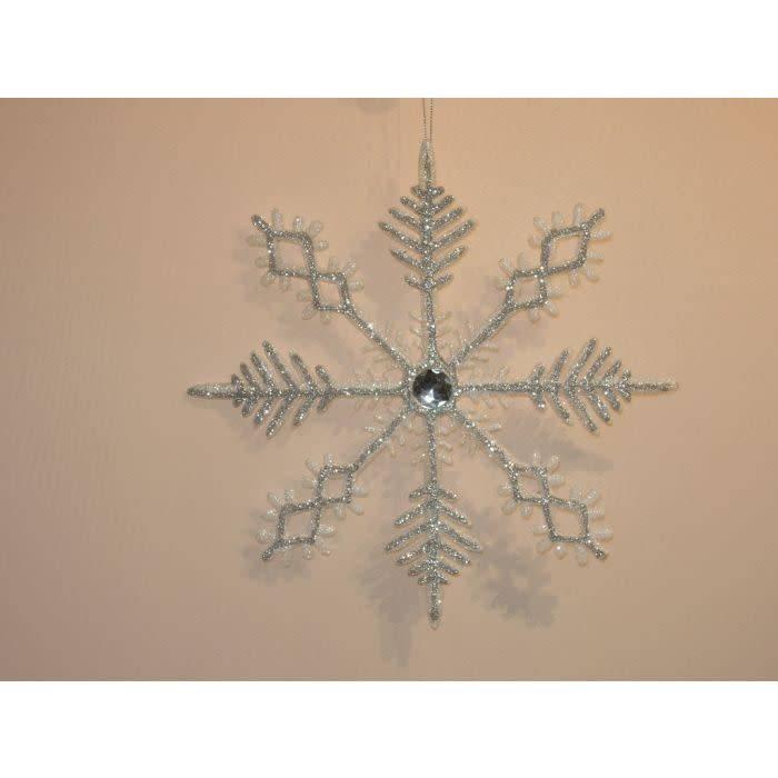 """12"""" Glitter Jewel Snowflake Ornament"""