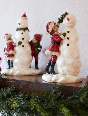 Vintage Snowman with Children (2 Styles)