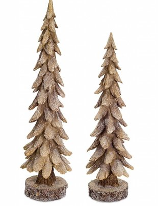 Set of 2 Shimmer Trees (2 Colors)