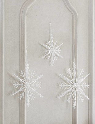 3D Tinsel Snowflake Ornament (3 Styles)