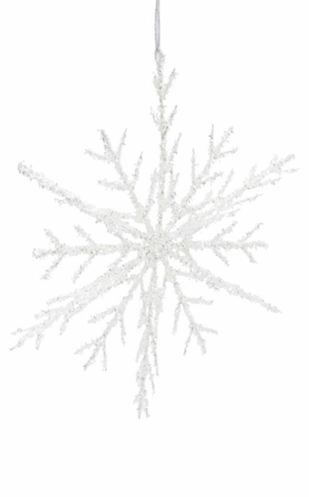 3D Tinsel Snowflake Ornament