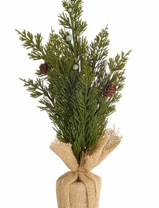 Mini Pine Tree w/ Burlap Base (2 Sizes)