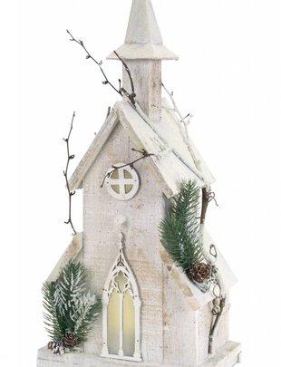 Pre-Lit Winter Church (3 Sizes)