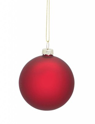 Red Matte Ball Ornament