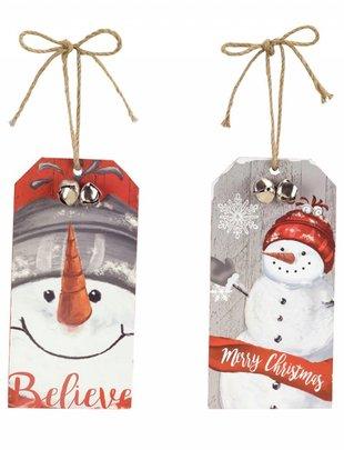 Snowman Tag Ornament (2 Styles)