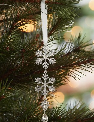 Tiered Jewel Snowflake Ornament